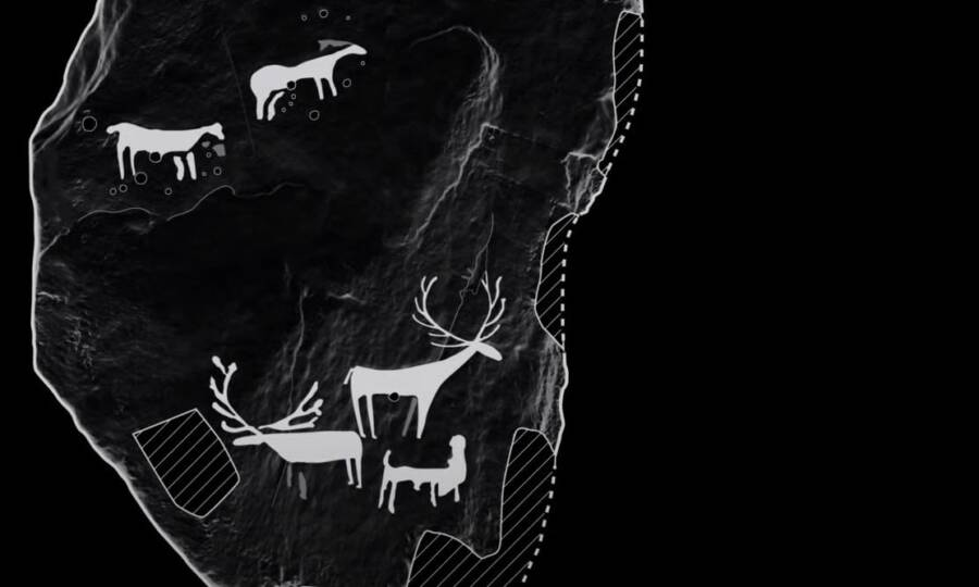Layout Of Prehistoric Animal Carvings