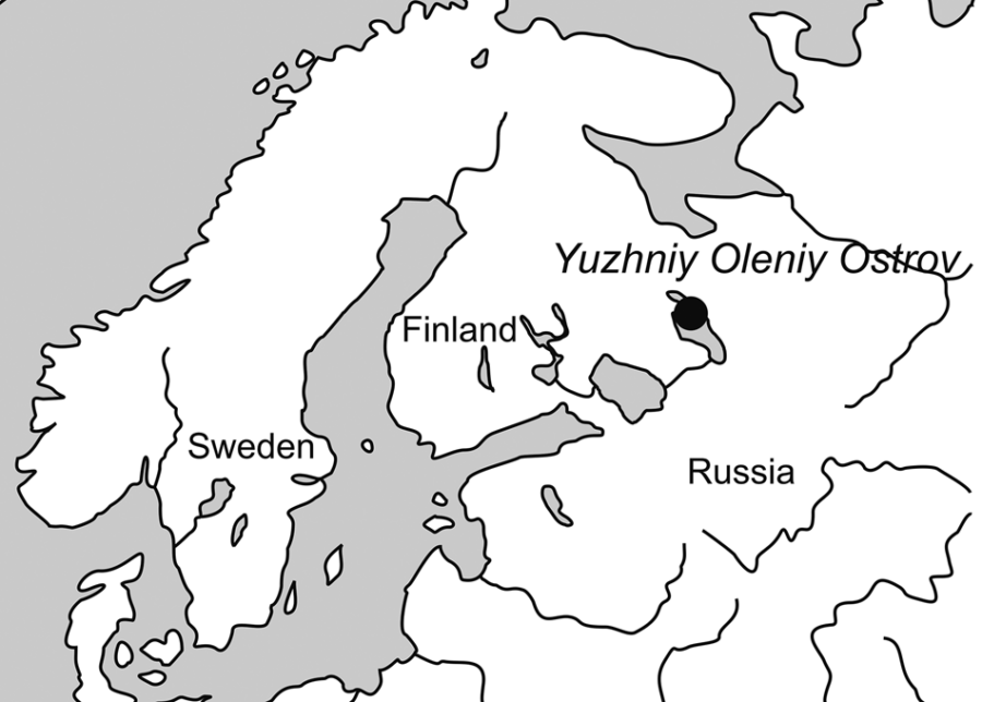 Map Of Yuzhniy Oleniy Ostrov