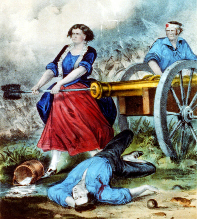 Molly Pitcher With Cannon