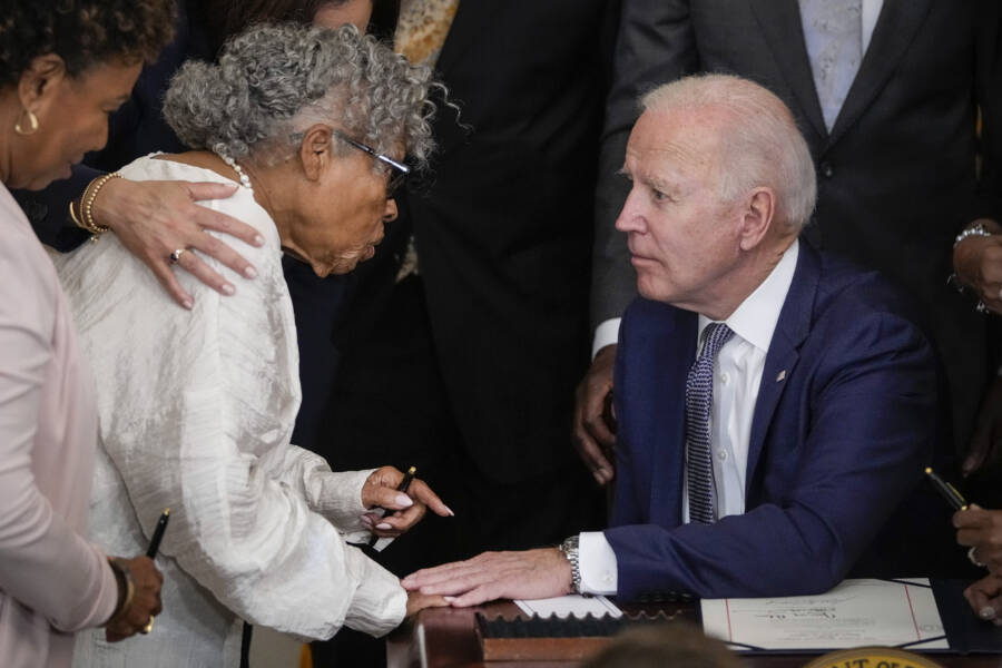 Opal Lee And Joe Biden
