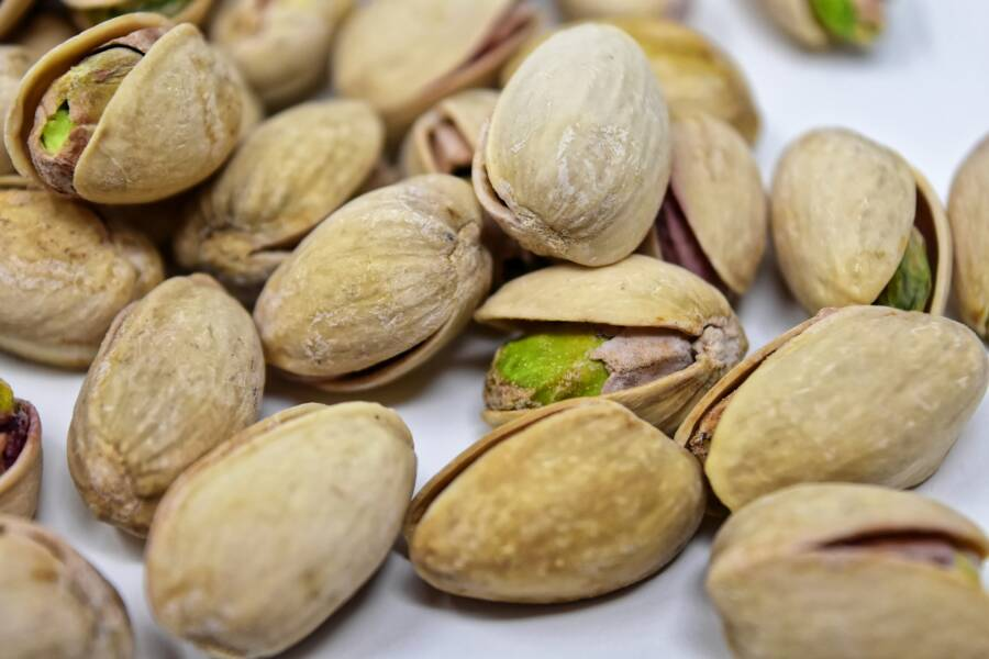 Open And Closed Pistachios