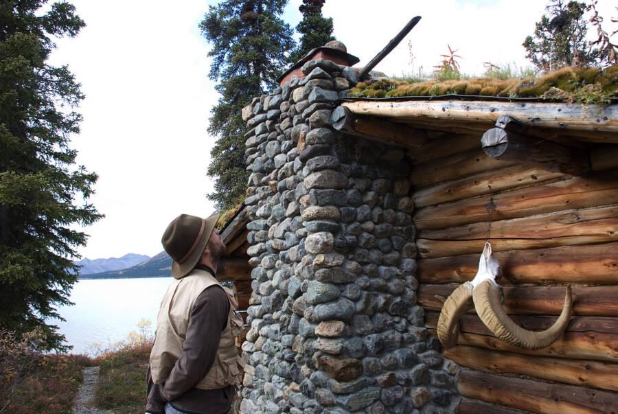 Stone Fireplace At Dick Proenneke Cabin