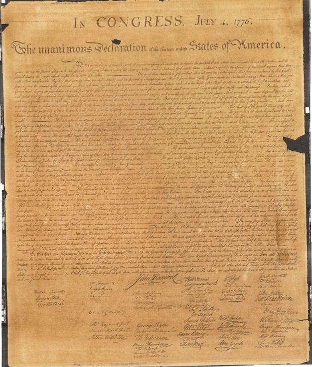 Rare Copy Of Declaration Of Independence