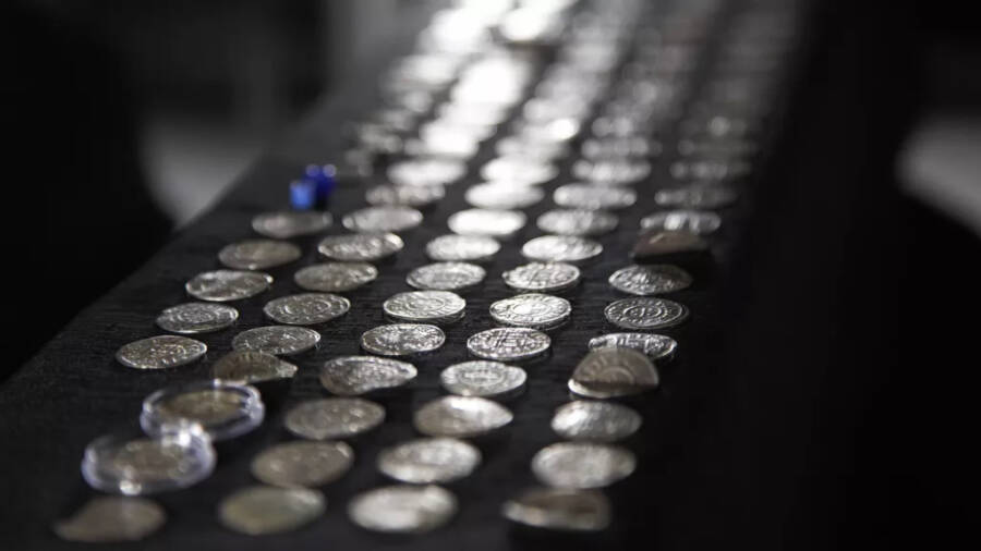 Silver Coins From Biskupiec On Display