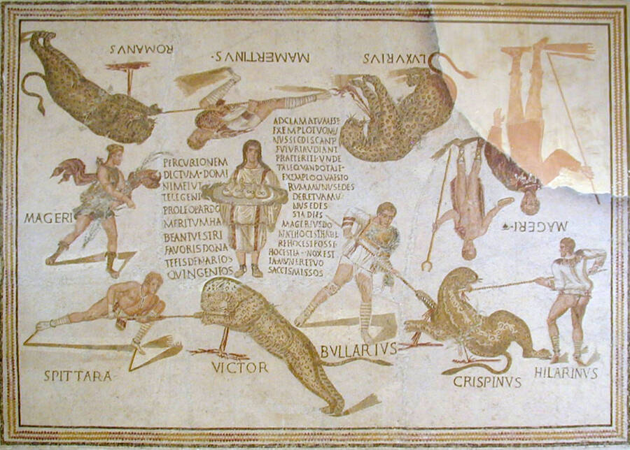 A Mosaic Of Staged Hunts