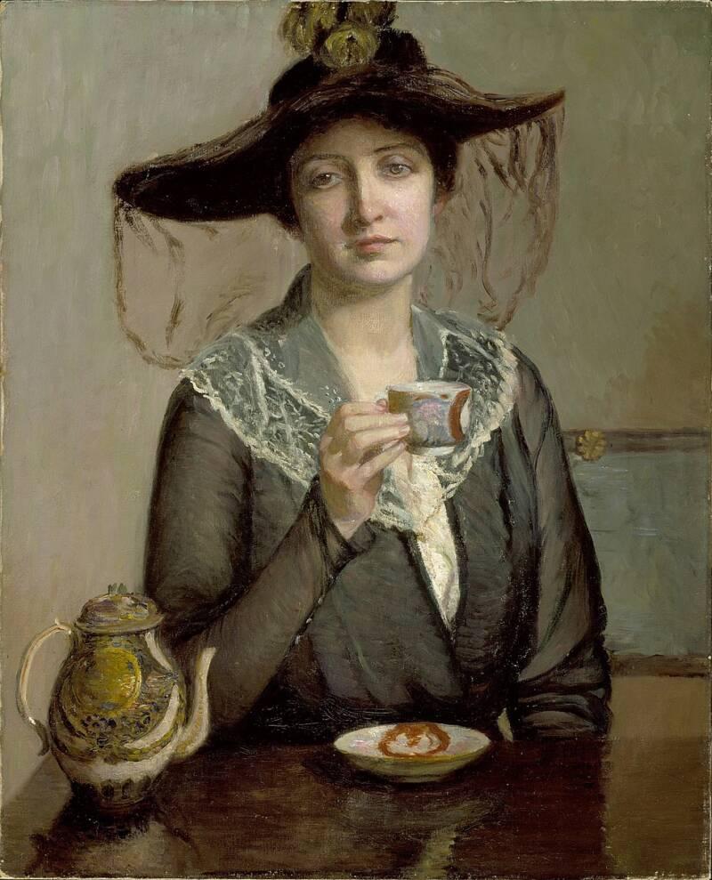 Widow Drinking Tea