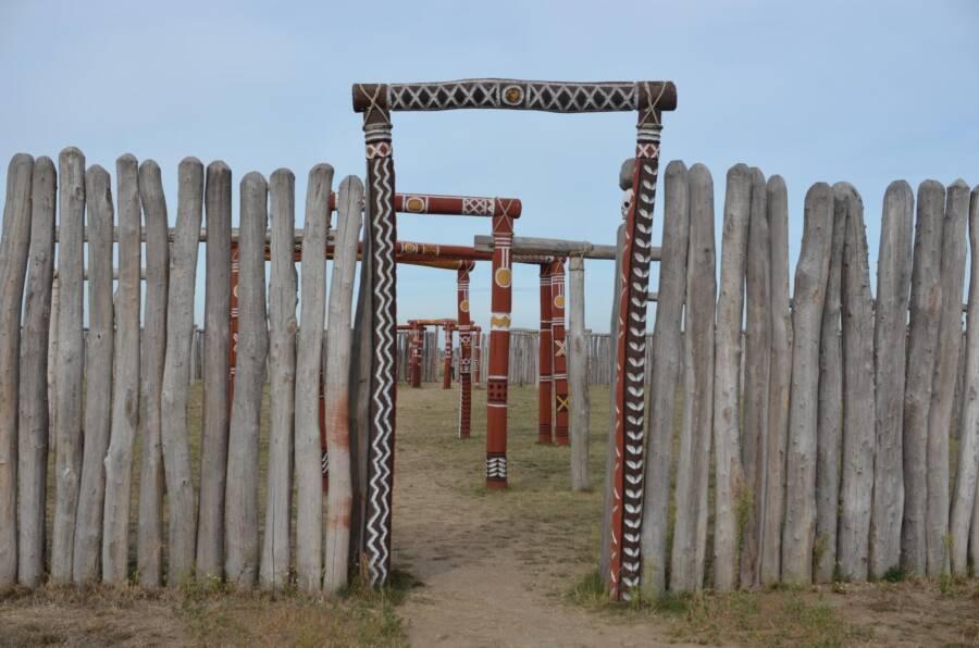 Wooden Entryway Of German Stonehenge