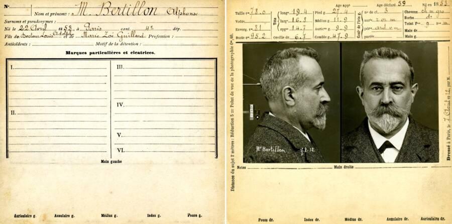 Alphonse Bertillon Mug Shot And Criminal Record