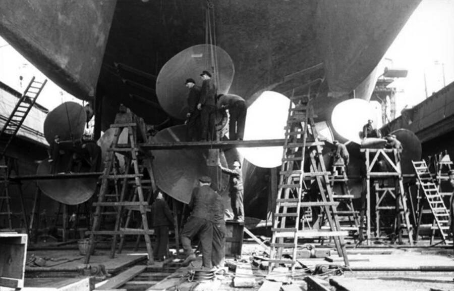 Battleship Bismarck Under Construction