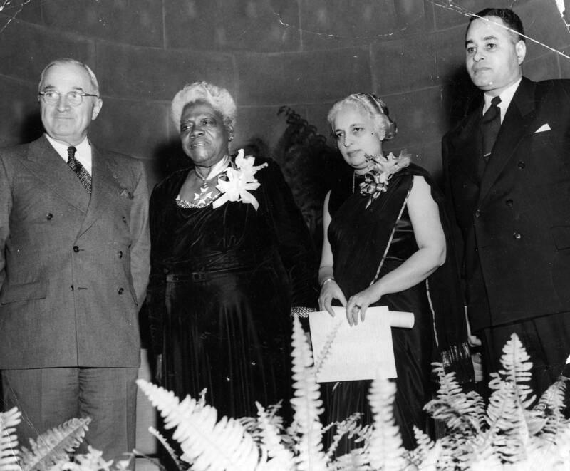 Mary Bethune And Harry Truman