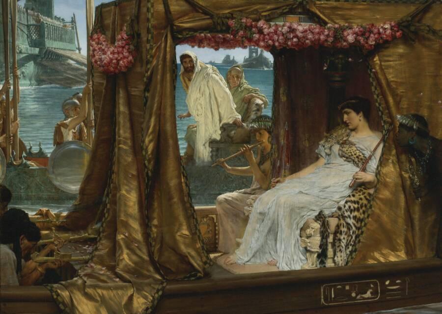 Cleopatra Meets Mark Antony
