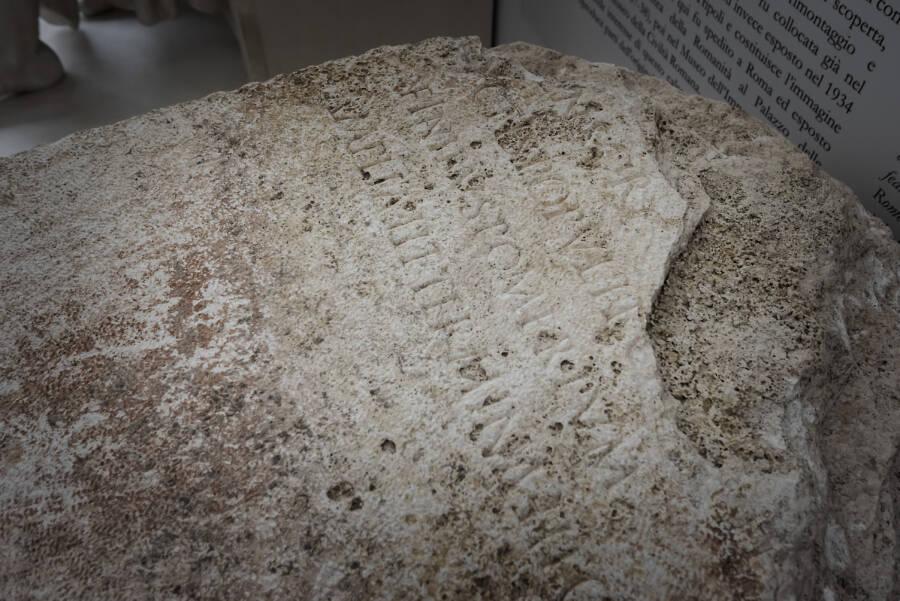 Engraving Of Roman Pomerium Stone
