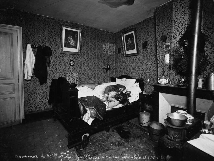 Grisly Alphonse Bertillon Crime Scene Photo