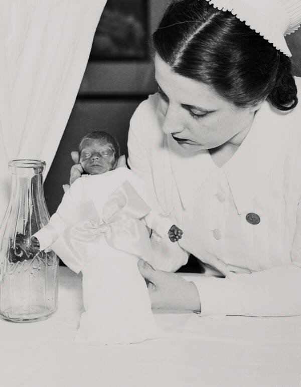 Hildegard Couney With Baby
