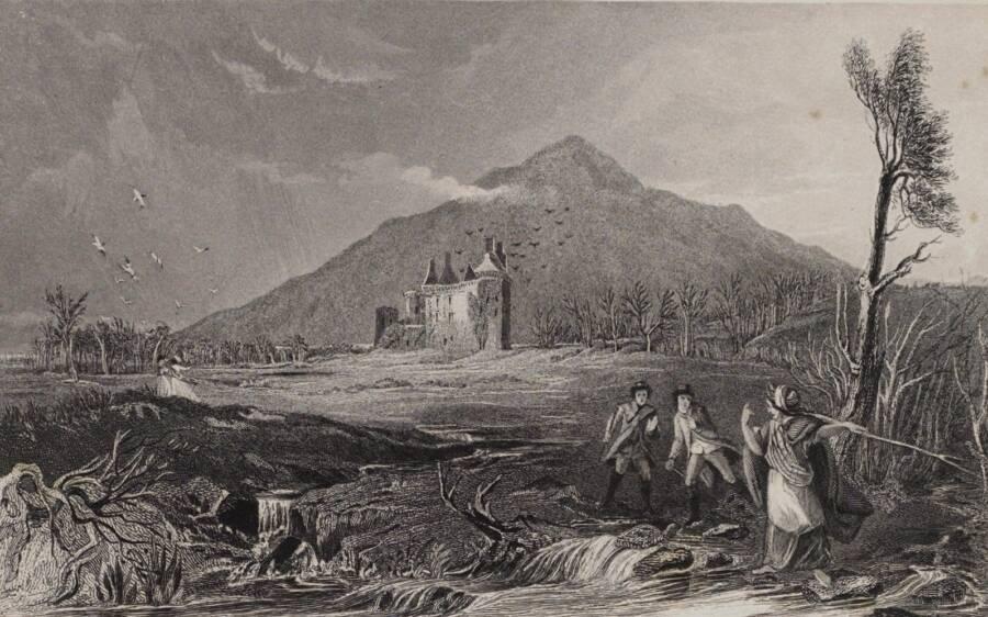 Illustration Of Caerlaverock Castle