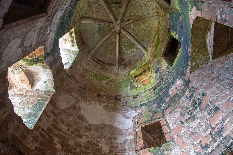 Inside Caerlaverock Castle Tower