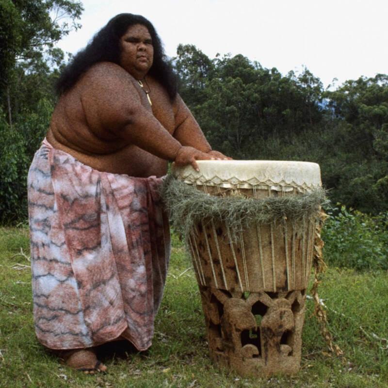 Kamakawiwo'ole Playing Drums