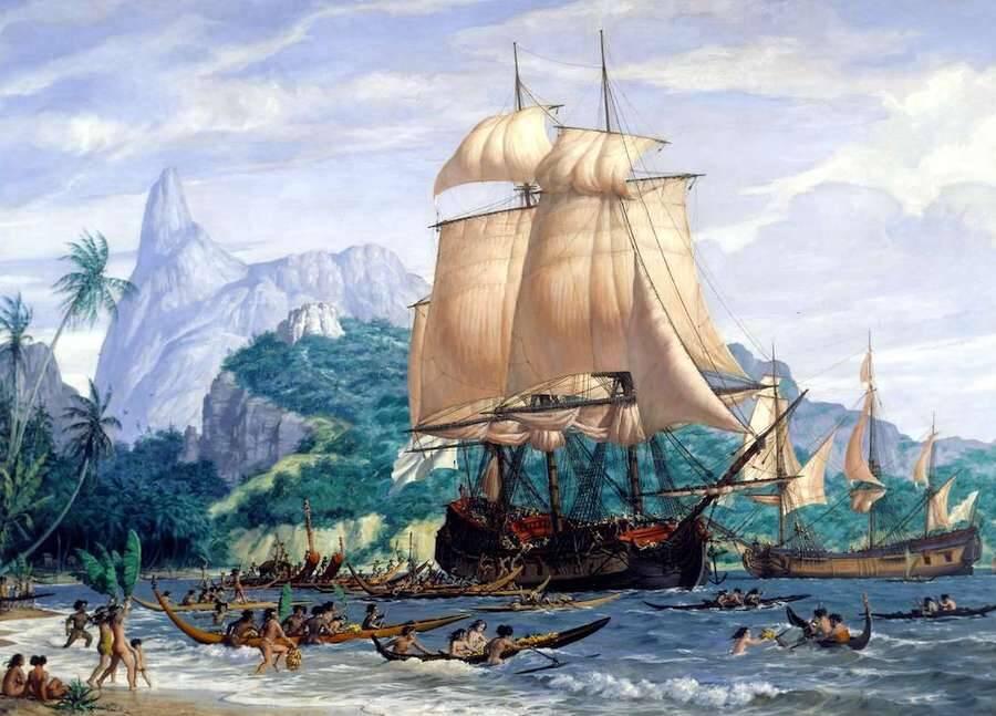 Jeanne Baret Arriving In Tahiti