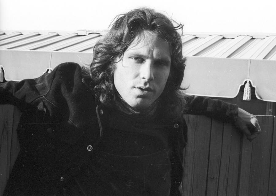 Jim Morrison Leaning On The Fence