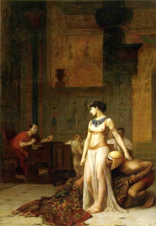 Julius Caesar Meets Cleopatra