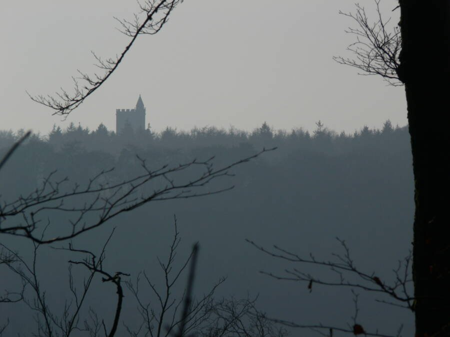 King Alfreds Tower On Dour Day