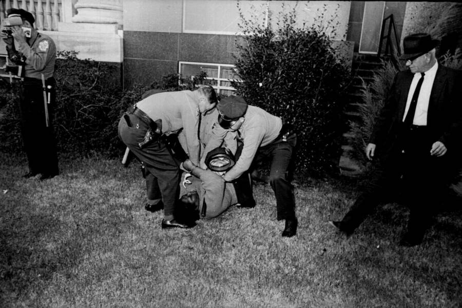 Lee Cooper Being Arrested