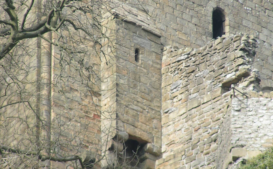 Medieval Toilet And Exterior Castle Wall