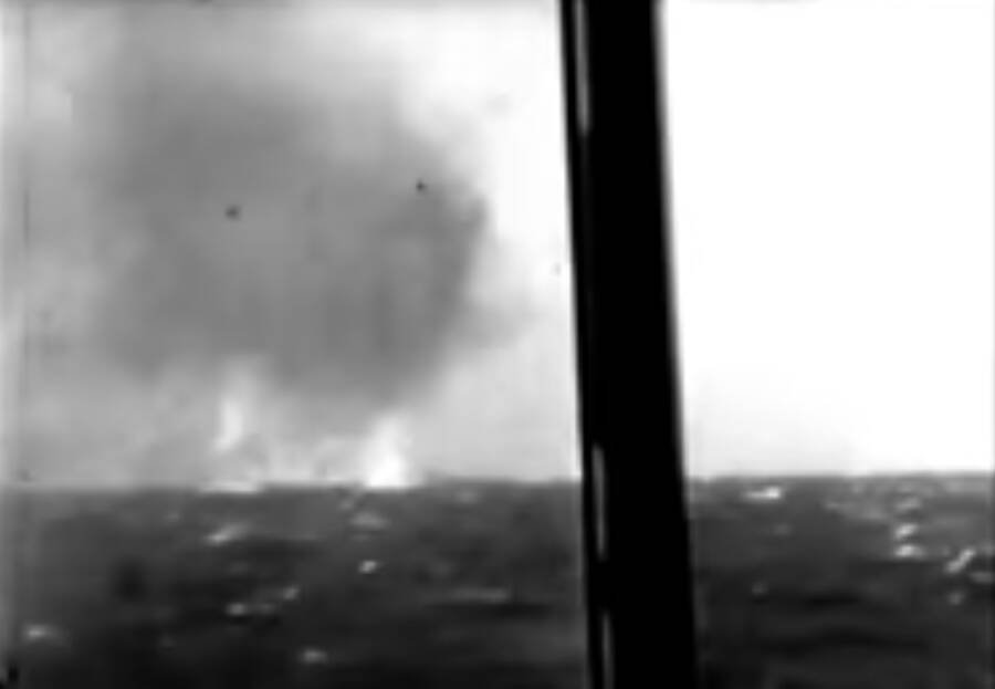 Newsreel Bismarck Last Battle Burning