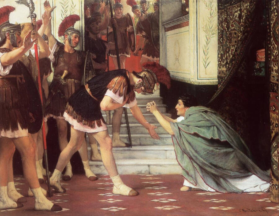 Painting Of Claudius Becoming Emperor