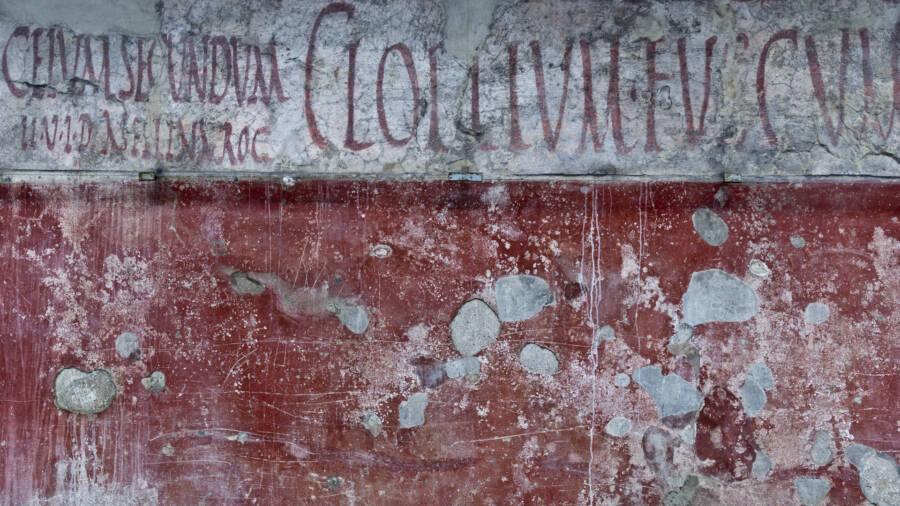 Red And White Pompeii Graffiti