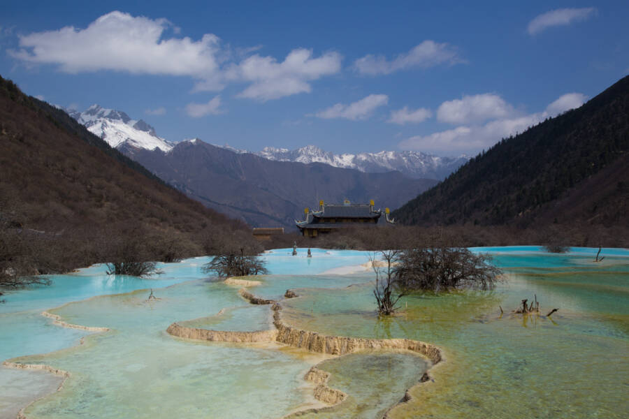 Scenic View Of Huanglong