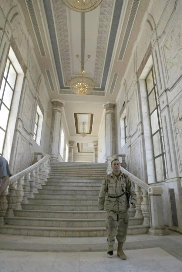 Soldier In Tikrit Hallway