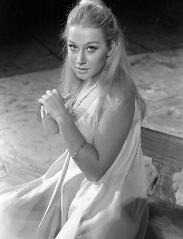 Young Helen Mirren White Dress