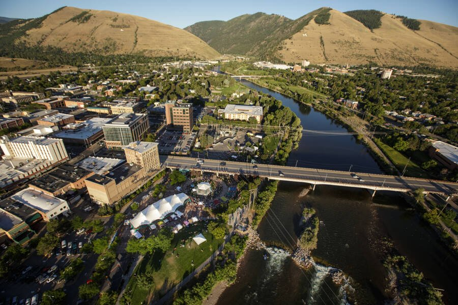 Aerial View Of Missoula