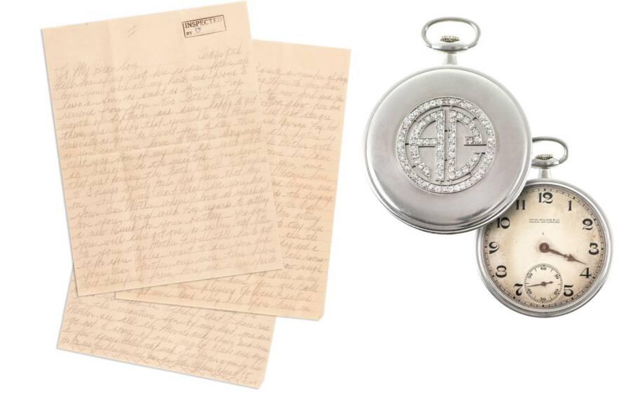 Carta de prisão e relógio de Al Capone
