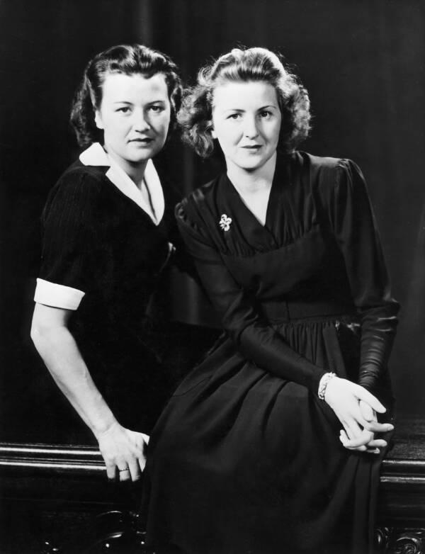Gretl Braun And Eva Braun