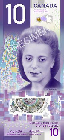 Canadian 10 Dollar Bill