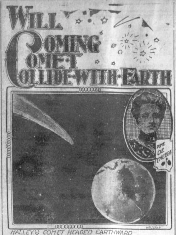 Comet Colide With Earth Headline