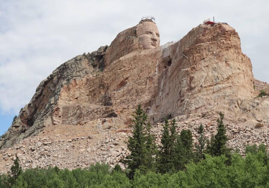Crazy Horse Memorial From Below
