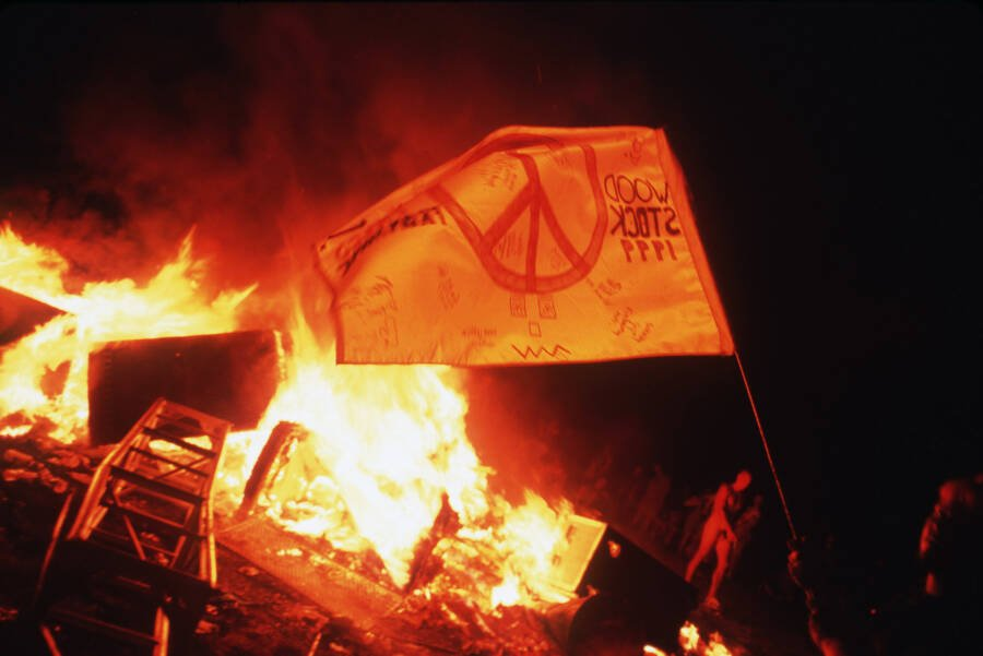 Fire And Flags At Woodstock 99