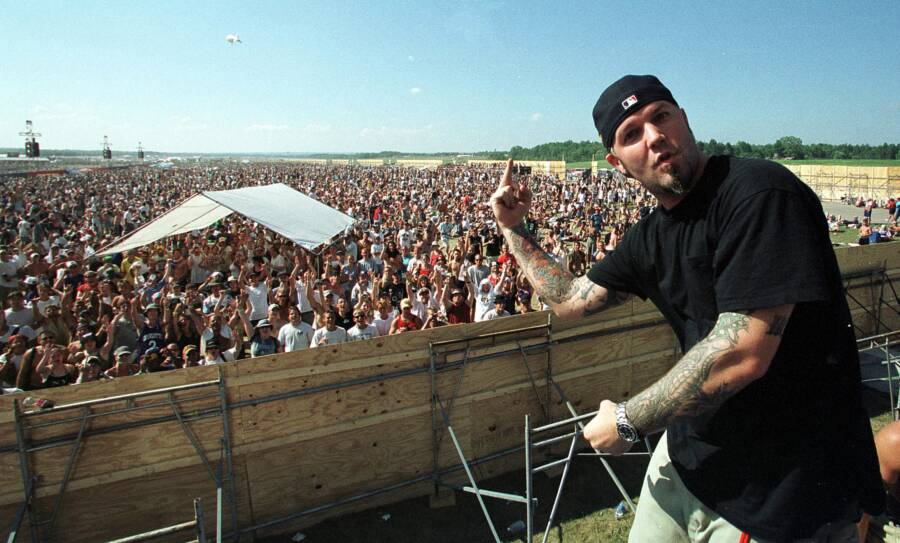 Fred Durst Giving Woodstock 99 Crowd The Finger