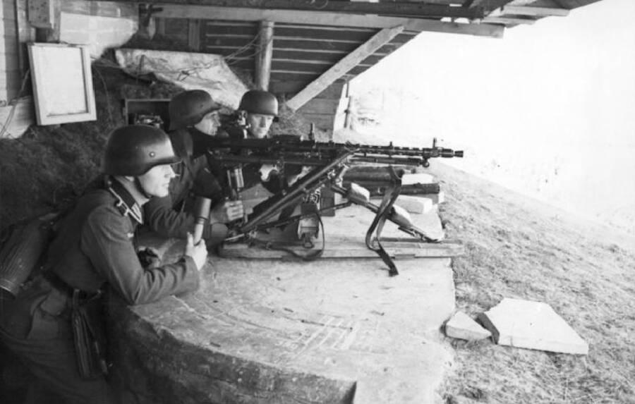 German Gunners At Dieppe Raid