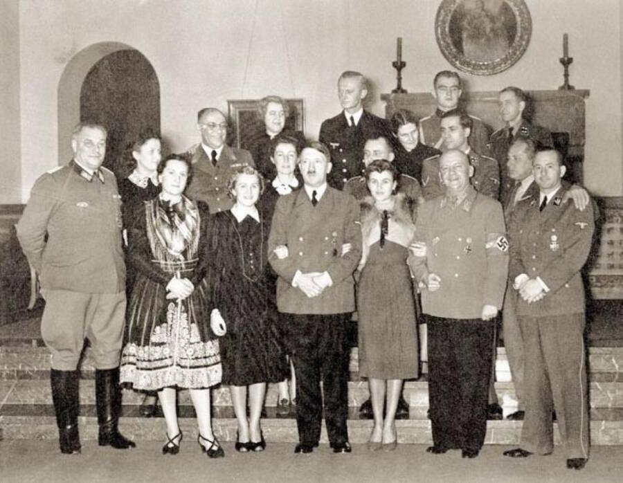 Adolf Hitler With Guests