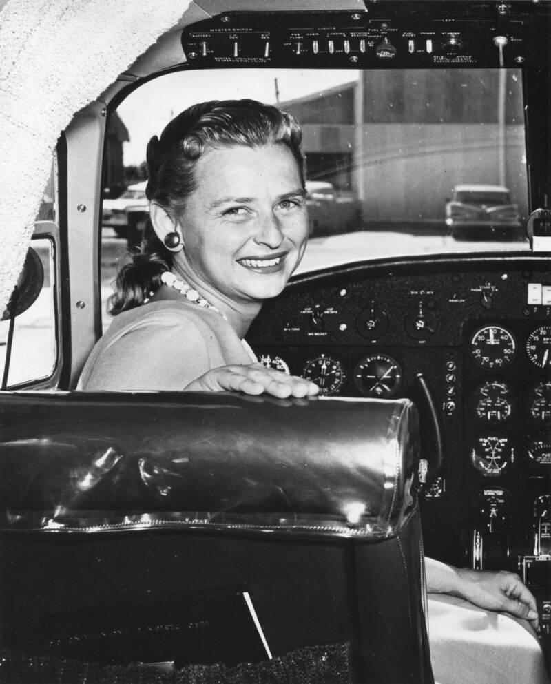 Jerrie Cobb In Cockpit