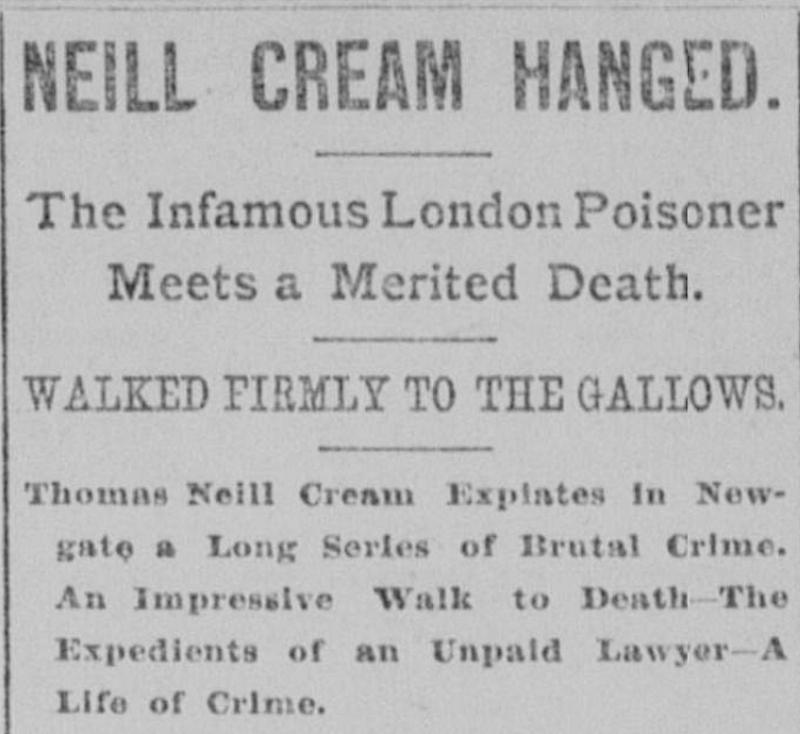 Neill Cream Hanged