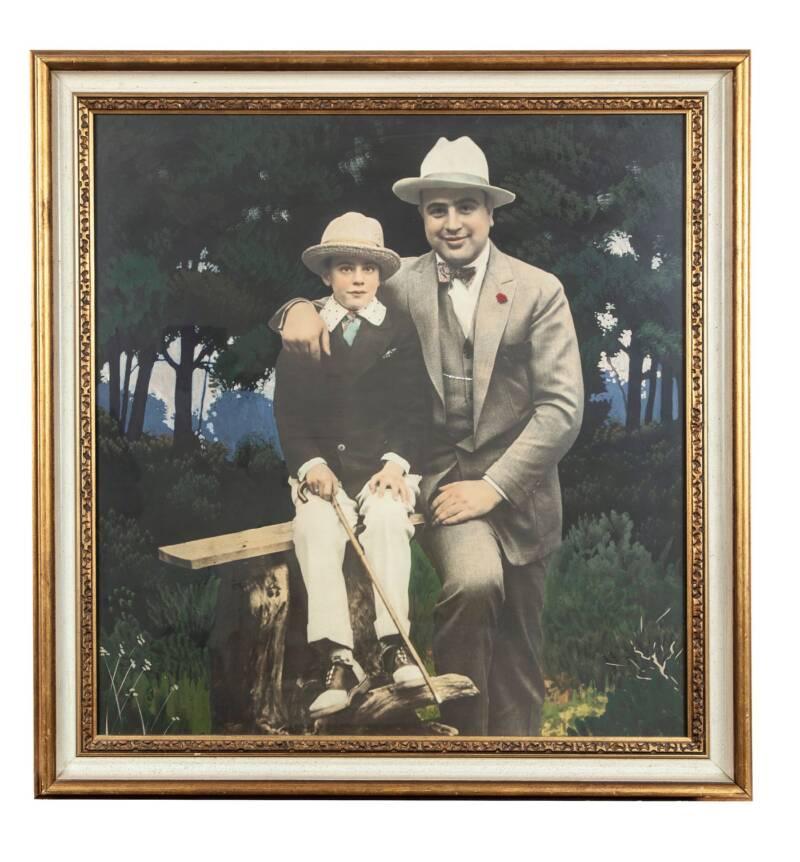 Pintura de Al Capone e Sonny Capone