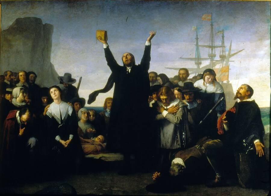 Pilgrims Leaving The Old World