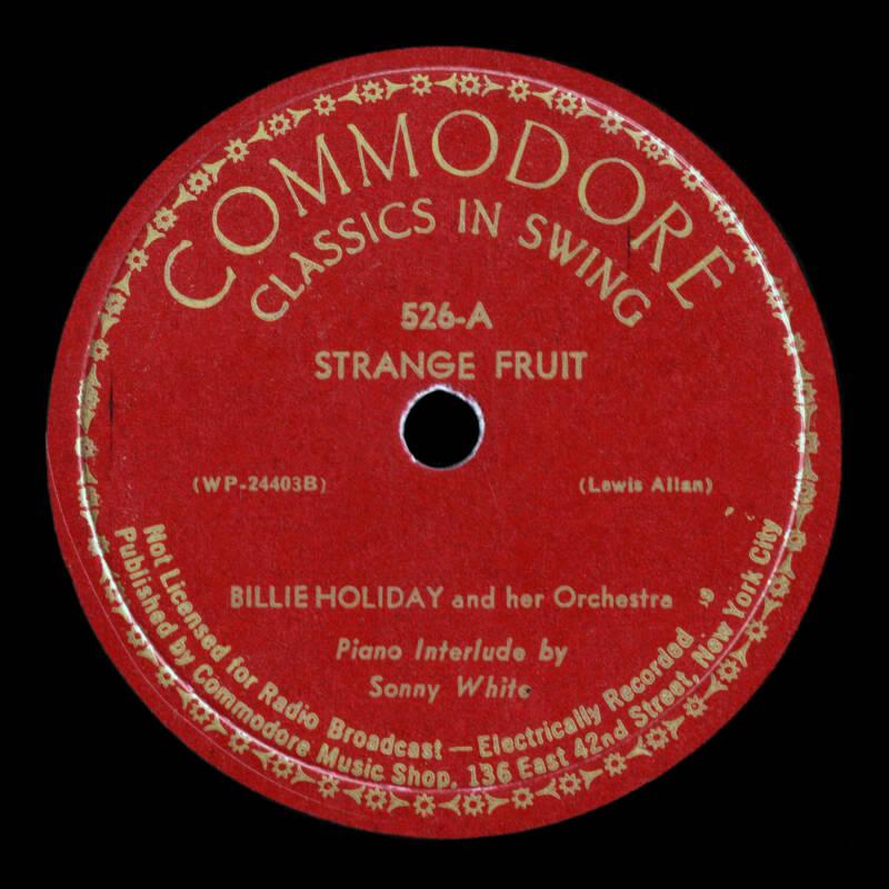 Strange Fruit Commodore Record
