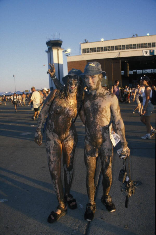 Two Naked Muddy People At Woodstock 99