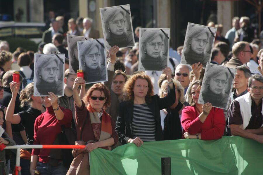 Anna Politkovskaya Assassination Protest